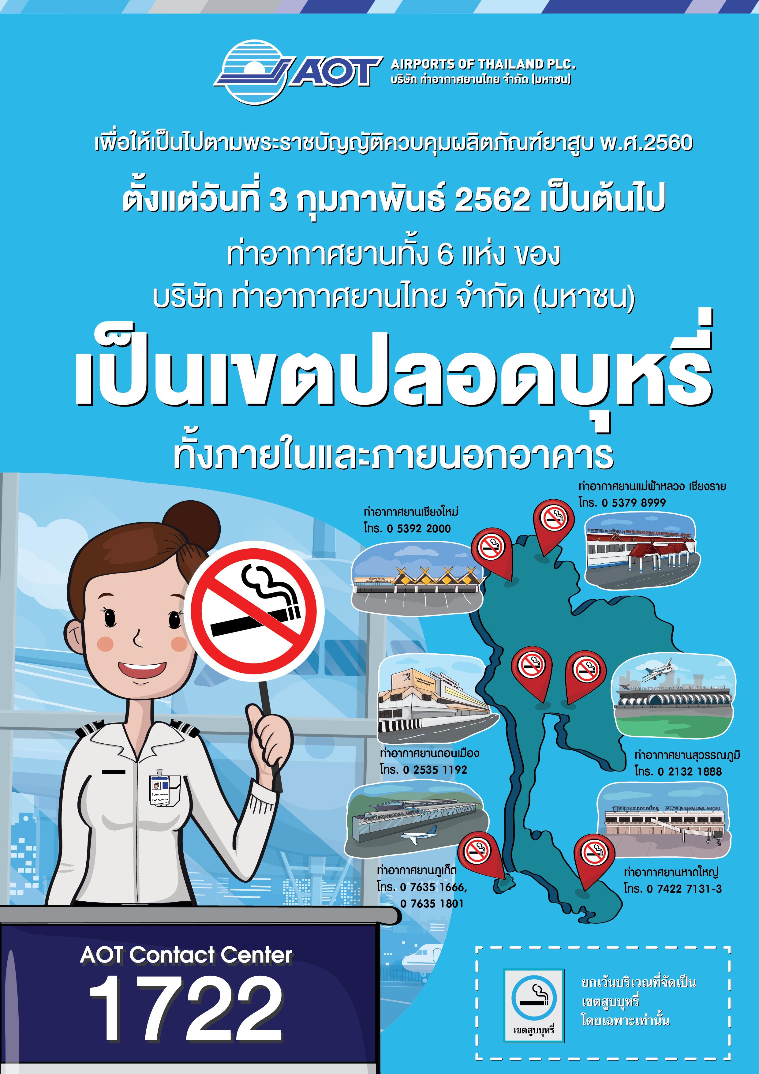 โปสเตอร์ ห้ามสูบบุหรี่ Thai-01